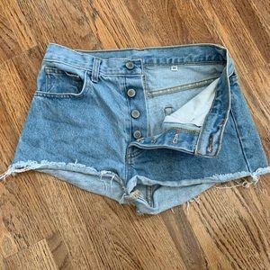 John Galt button fly denim shorts, M